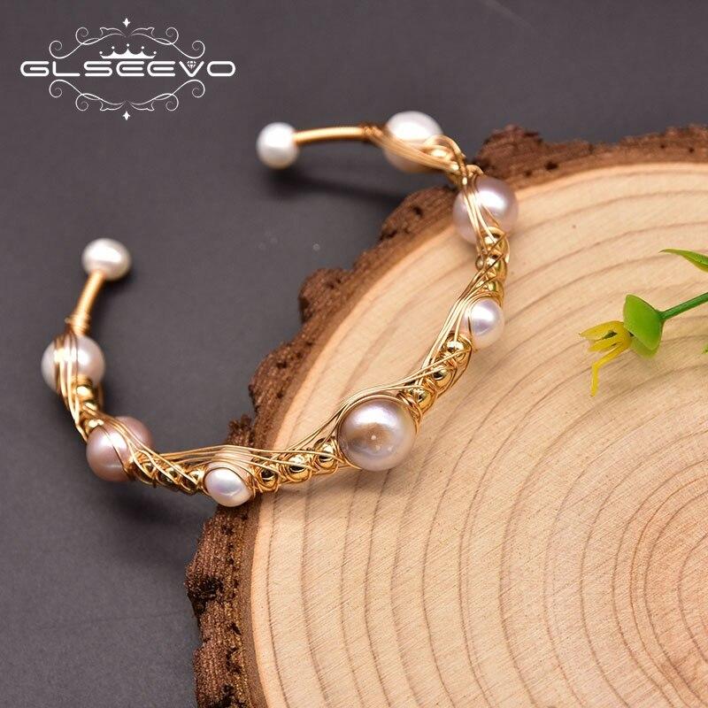 Glseevo Natürliche Barocke Perle Charme Wrap Armbänder Armreifen Für Frauen Engagement Handgemachte Klassische Luxus Feine Schmuck GB0935