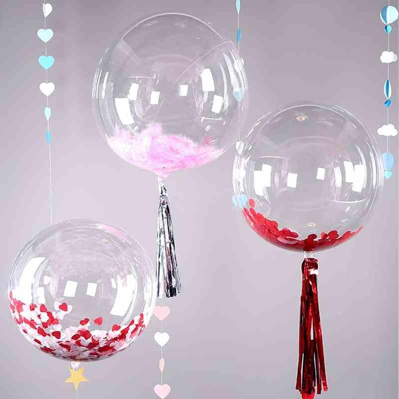 5pcs 18-36/'/' PVC Clear Bubble Balloon Transparent Wedding Party Decor Christmas