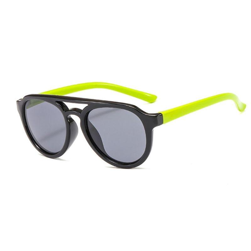 Детские солнечные очки мальчикам и девочкам, силиконовые очки солнечные очки тёмные очки для От 4 до 12 лет Детская R9CF - Цвет линз: 1