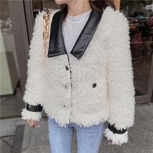 Fashion new lamb fur coat short female
