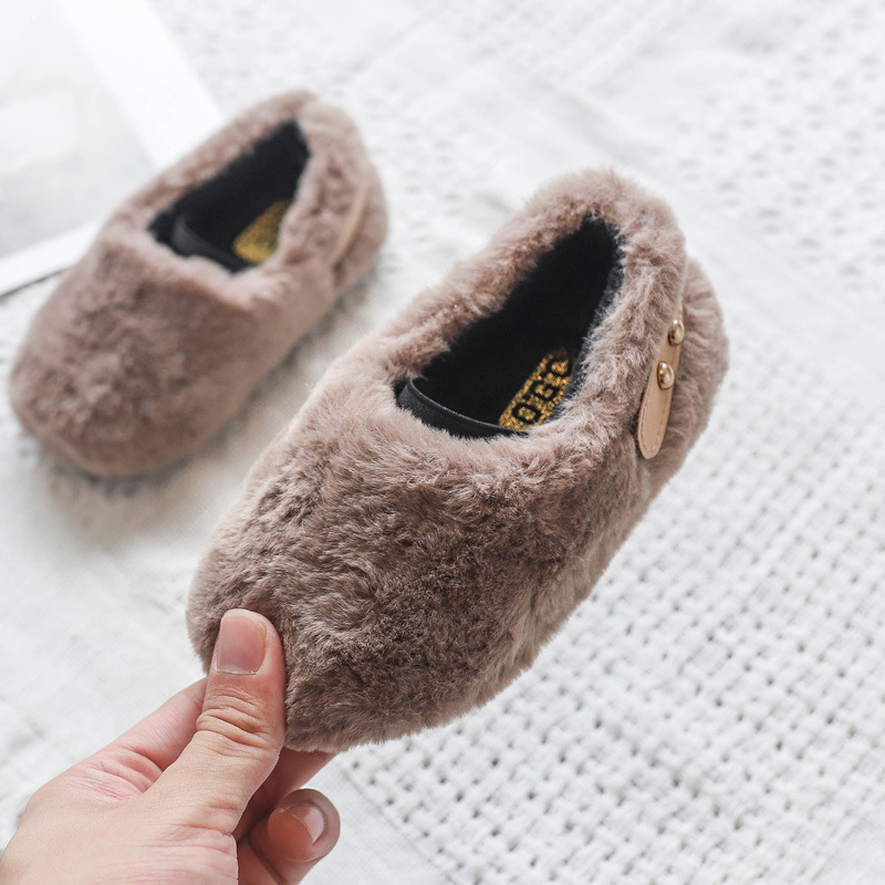 Men's And Women's Shoes 2020 Winter New Fur Shoes Thickened Children's Lightweight Baby Toddler Shoes Warm  Shoes Two Cotton