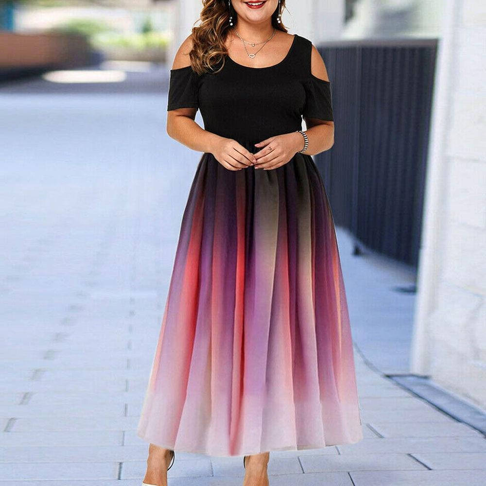 tie dye elegante party kleid frauen sexy aushöhlen gefaltete lange kleider  sommer 2020 weibliche plus größe 6xl eine linie büro maxi robe