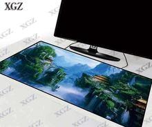 Большой игровой коврик для мыши xgz с фантазийным лесным пейзажем