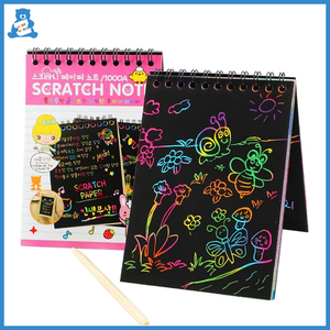 Magic Color Rainbow Scratch Book Desk Creative Memo Paper Painting Scraping Art Doodle Pad DIY Education Drawing Toys Kids Gift