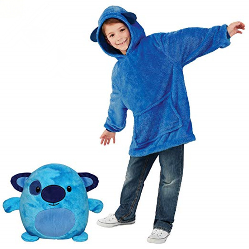 New Children s Warm Blanket Sweat Shirt font b Pet b font Shaped Wearable Hoodie Nightdress