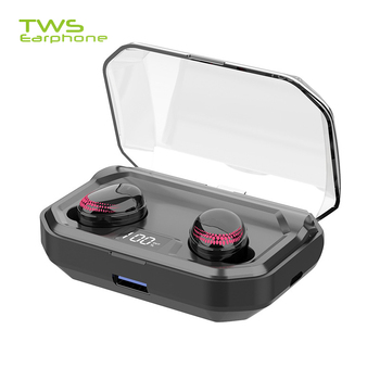 TWSearphone X10 Wireless Bluetooth Headphone Hi-Fi Stereo Sound Earpiece With LED Display Touch Control Earbuds With Mic Earset
