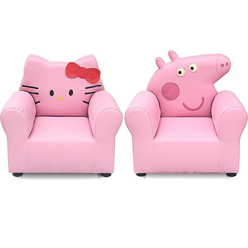 Boy Girl Princess Children Sofa Hellokitty Piglet Pei Odd Cartoon Small Baby Sofa Chair Single Person Stool Bean Bag Zitzak Pink