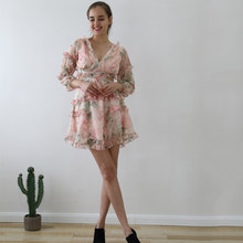 Sweetkama Summer Beach Vintage Dress Woman Spaghetti Strap Cross Backless Sexy Deep V Print Bodycon Vestidos Short Pink Dress