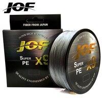JOF 9 Stränge 500M 300M 100M PE Geflochtene Angelschnur tresse peche Salzwasser Angeln Weben Multifilament 9 themen|Angelschnüre|Sport und Unterhaltung -