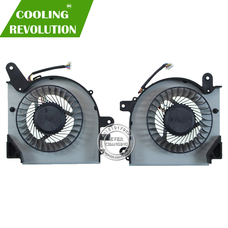 Laptop Cooling Fan For MSI GF75 Thin 8RC 8RD 9SC 9SD MS-17F3 PAAD06015SL 0.55A 5VDC N415 N416