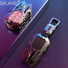 Zinklegering + Lederen Auto Key Case Cover Voor Honda Vezel Stad Civic Jazz Crv Crider Hrv Voor Honda Civic 2019 Hrv Crv Accord