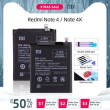BN41 4100mAh для XIAOMI Redmi Note 4 Аккумулятор Redmi Note 4X Pro Аккумулятор MTK Mediatek X20 BN41