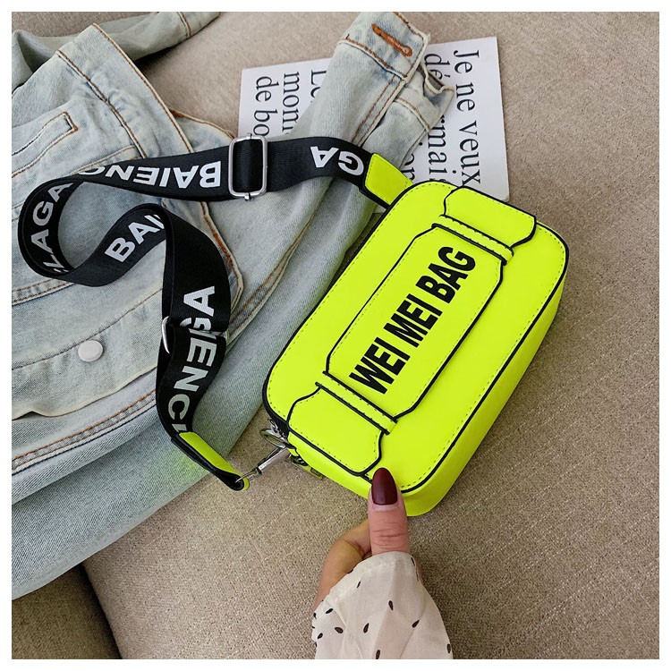 Crossbody Bags for Women Neon Yellow Pink Travel Messenger Bags Female Casual Shoulder Bags Phone Coin Bag Handbag Rectangle Bag