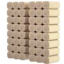 20 Rolls 4 Layer Home Paper Bath Paper Bath Toilet Paper Natural Coreless Roll Paper Napkin Soft Toilet Tissue 20#38