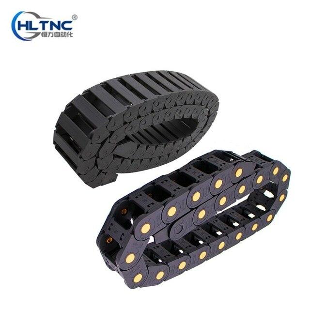 Type de pont 10X10 10X15 15X30 18X37 | Chaîne à glisser en plastique avec connecteurs dextrémité L 1000mm, câble de machine à graver pour routeur pièces 1 pièces