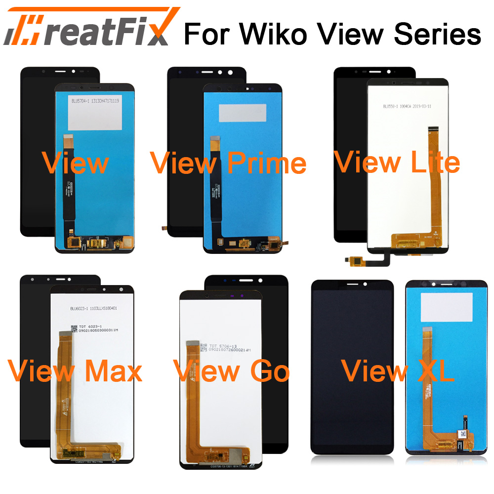 View Screen For Wiko View Xl View Go LCD Display And Touch Screen Assembly For Wiko View Max View Prime With Tool And Adhesive