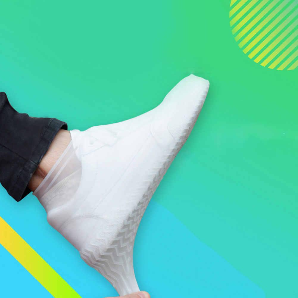 1 Pair Riutilizzabile Del Silicone Della Copertura del Pattino S/M/L Cusodie Per Scarpe Da Pioggia Impermeabili di Campeggio Esterna Antiscivolo da pioggia scarpe da pioggia boot Soprascarpe