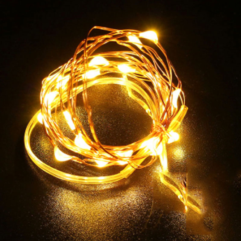 Waterproof Timer 33FT 10M /16.5FT 5M Battery Powered LED Copper Wire String Fairy Light Home Garden Festival Outdoor Lighting