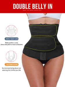 Image 1 - Waist Trainer Steel Boned Body Shaper Cincher Sauna Sweat Faja Sport Girdle modeling strap tummy shaper slimming belt corset