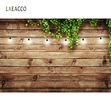 Laeacco Wooden Board Photophone Leaves Vine Light Baby Portrait Photography Backgrounds Photographic Backdrops For Photo Studio