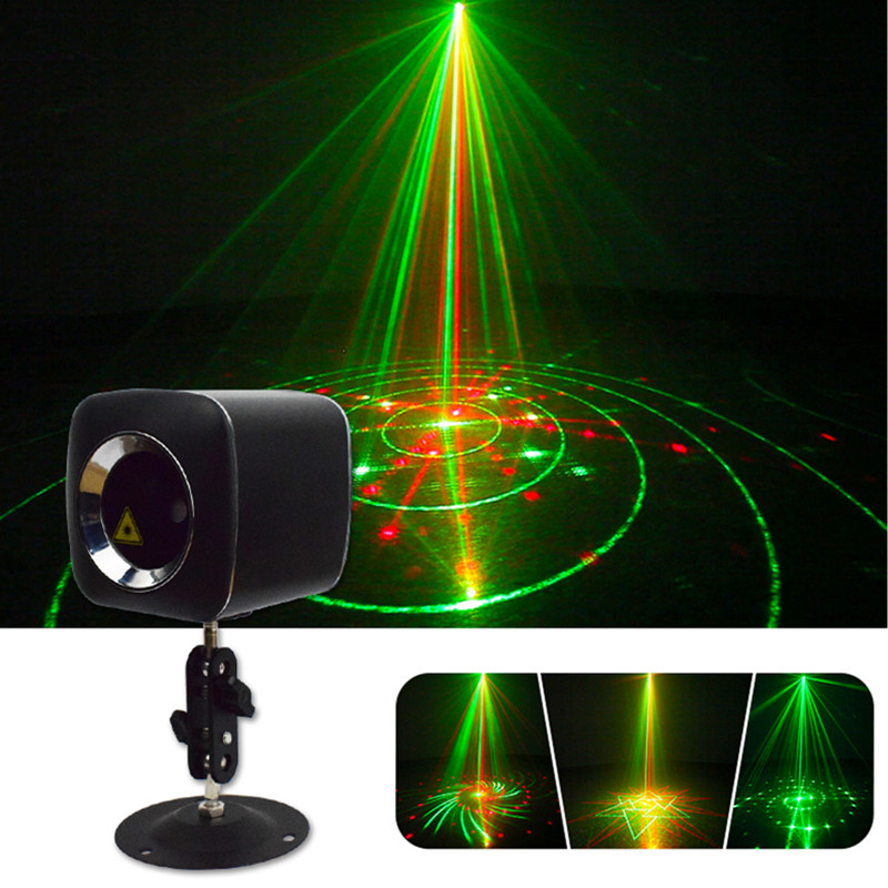 Star Shower RGB Laser Light Mini Sound Activated Christmas Disco DJ Party Lights Indoor Decoration for Holiday Porjector Light