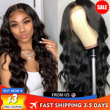 Cheap 180 Density Body Wave Lace Front Wig Transparent Human Hair Lace Frontal Wigs T PART Brazilian Wavy 30 Inch Lace Front Wig