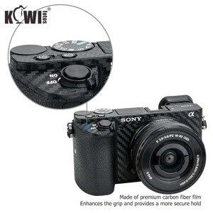 Image 3 - Anti Slide Kamera Körper Carbon Faser Film Kit Für Sony Alpha A6500 + SELP1650 16 50mm Objektiv anti Scratch Haut Abdeckung 3M Aufkleber