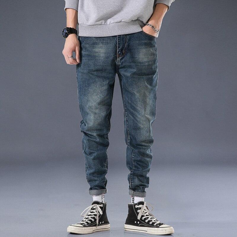 Autumn And Winter Popular Brand Jeans Men's Loose-Fit Trend Versatile Huai Jiu Ku Harem Pants Casual Large Size MEN'S Trousers S