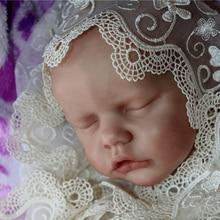 Rsg renascer bebê boneca 17-25 polegadas diy popular reborn boneca kit lifelike recém nascido bebe renascer junho vinil unpainted inacabado boneca