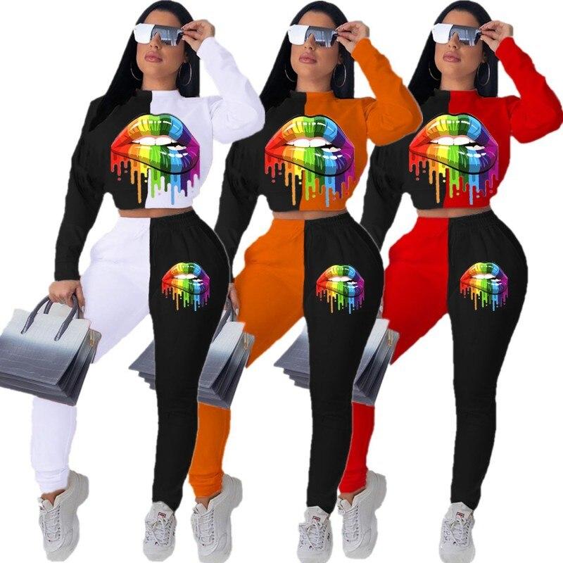 2 Piece Set African Set For Women 2020 News Top Pants Suit Dashiki Print Ladies Clothes Robe Africaine Bazin Fashion Clothing