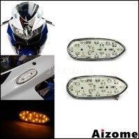 Motorcycle E8 Turn Indicator LED Blinkers For Suzuki GSX R600 GSX R750 2006 16 GSX R1000 2005 2016 Mirror Block Off Turn Signals|  -