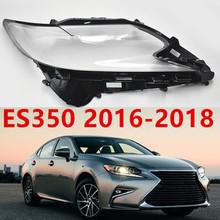 Reflektor reflektor wyczyść auto-shell pokrywa dla ES350 przezroczysta szklana osłona obiektywu 2016-2018 wymiana DIY tanie tanio TIEAUR Reflektory DDZ-ES350-16L R