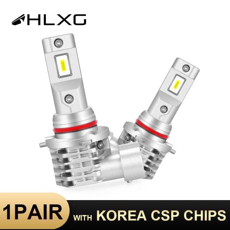 HLXG CSP H11 противотуманная фара H7 светодиодный HB4 9006 H4 9005 HB3 H8 H9 лампы автомобильные аксессуары светильник отсутствие радиопомех анти-EMC Авто го...