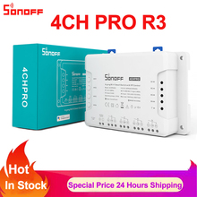 SONOFF 4ch R3 PRO Smart Switch 4 Kanäle 433MHz 2,4G Wifi Fernbedienung Smart Switch Tipp automation module alexa Google