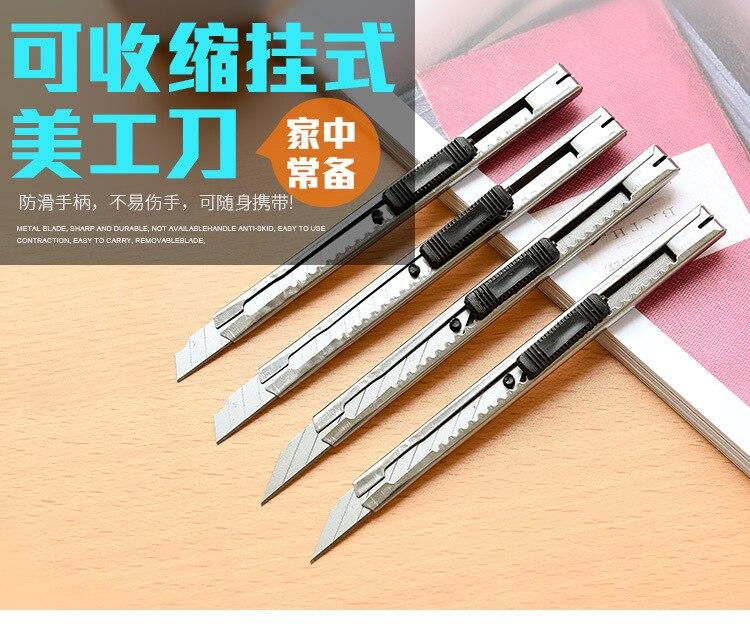 Art Knife Utility Knife Art Supplies Paper And Office Knife Diy Art Cutter Knife Stationery School Tools Paper Cutter 1pcs