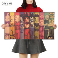 Do vintage Dos Desenhos Animados do Anime Dragon Ball Bar Cartaz Crianças Quarto Home Decor Quadrinhos Dragon Ball Pintura de Papel Kraft 70x39cm(China)