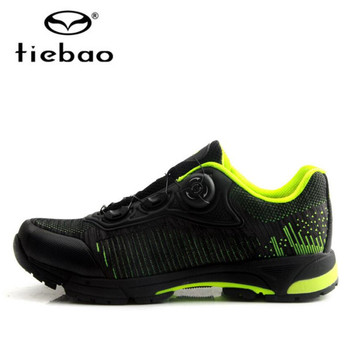 נעלי רכיבה Tiebao עצמי נעילת MTB לנשימה רשת עליון אופניים נעליים חיצוני פנאי אופני נעלי גברים סניקרס Zapatillas Mtb