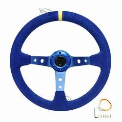 Spceddy MCX głębokie wygięcie Sport kierownica modyfikacja samochodu części 14 cali 350mm kierownica wyścigowa niebieski czarny MC20S0501115