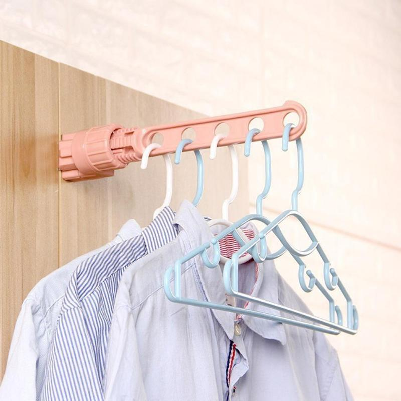 Portable Indoor Drying Rack Window Sill Plastic Drying Clothes Hanger Balcony Window Closet Laundry Clip-on Storage Rack Hanger