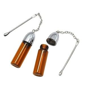 Стеклянная Пустая бутылка с металлической ложкой, храп, пуля, контейнер, диспенсер для хранения таблеток, чехол (36 мм/57 мм/72 мм)
