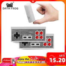 DATA FROG consola Retro de 8 bits, miniconsola inalámbrica con 1400 juegos clásicos, salida AV/HDMI, dos mandos