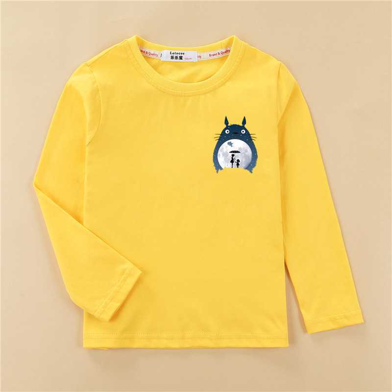 Totoro Tops Kids Autumn Long Sleeve T-shirt 100% Cotton Home Clothes Boys Girls Brands Spring Tees Costume 1