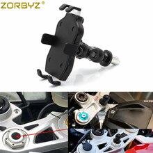 ZORBYZ 오토바이 전화 홀더 포크 스템 마운트 브래킷 탐색 브래킷 야마하 YZF R1 2002 2017 R6 2006 2017