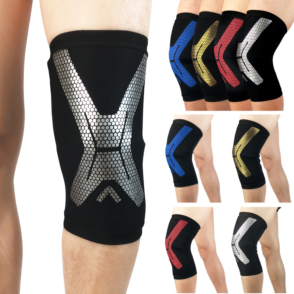 Sports Knee Protection Pads Compression Stylish Pattern Supports Fitness Running