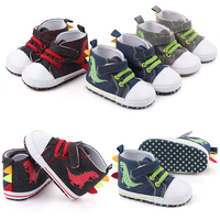Baby Boys Girls Breathable Casual Canvas Letter Dinosaur Print Anti Slip Shoes Sneakers Soft Soled First Walkers baby Moccasins