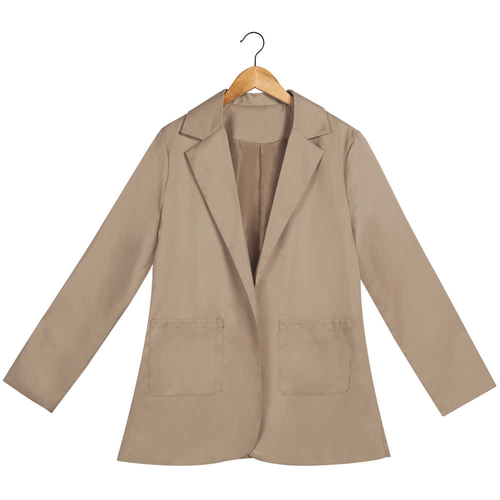 Joineles 女性カジュアルジャケット秋長袖ターンダウン襟スーツコート 15 色スリム正式なブレザープラスサイズ 5XL カーディガン