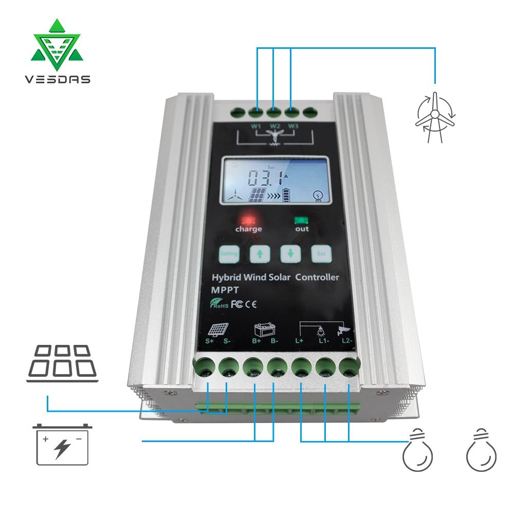 Ten-high 400W Wind Mppt charge controller,12V/24V Auto Distinguish ...