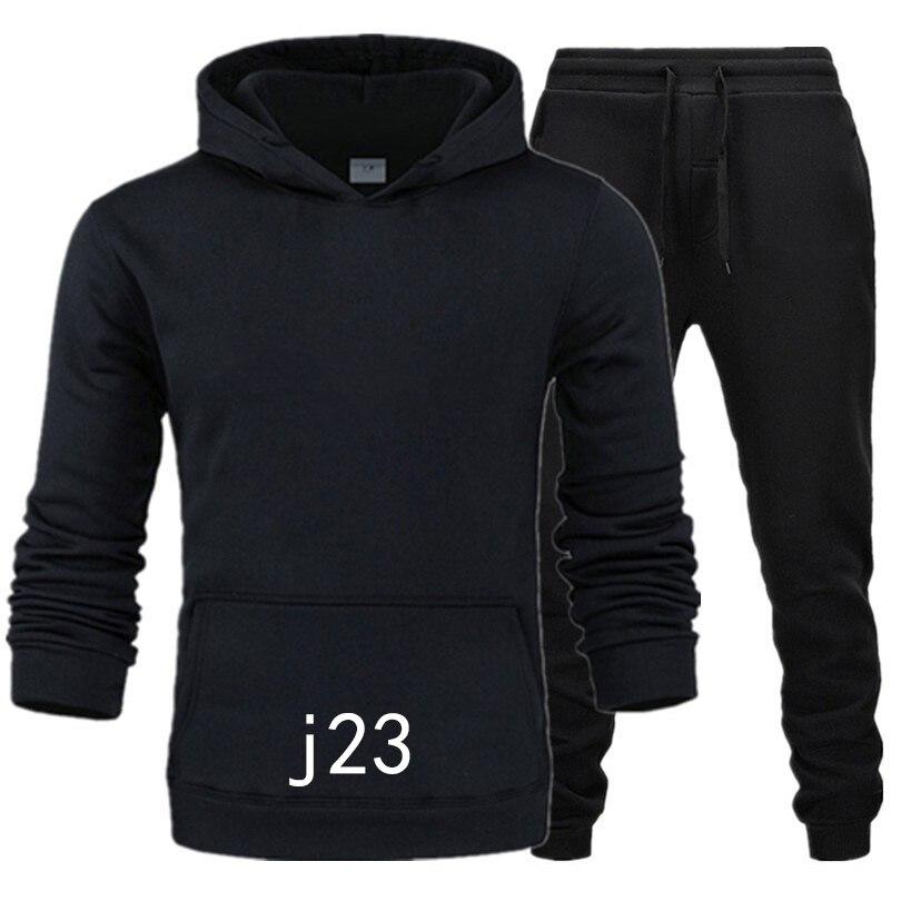 Nova marca de roupas dos homens pullovers algodão masculino agasalhos com capuz duas peças + calças camisas esportivas outono inverno trilha terno