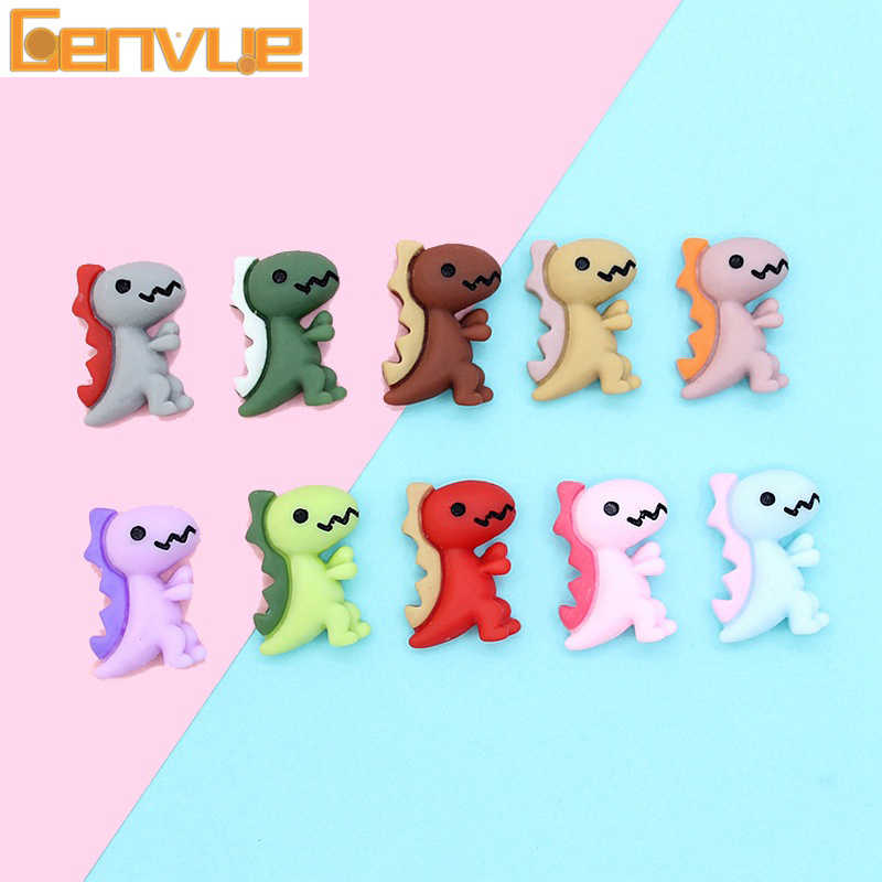Cartoon Dinosaur Air Dry Clay Charms For Slime Supplies Putty Addition For Slime Accessories Soft Clay Play Dough Set DIY Decor