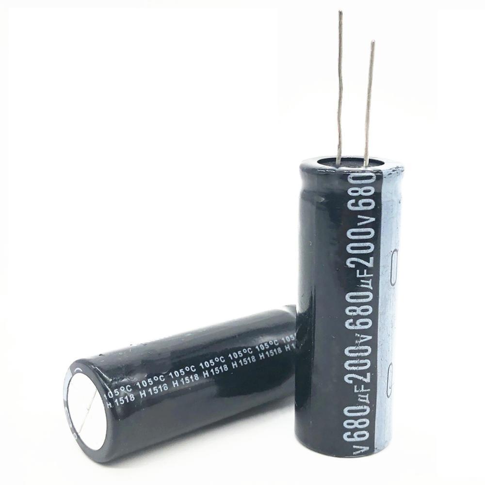 2pcs/lot 200V 680UF 18*50mm 20% RADIAL Aluminum Electrolytic Capacitor 680000nf 200V 680UF